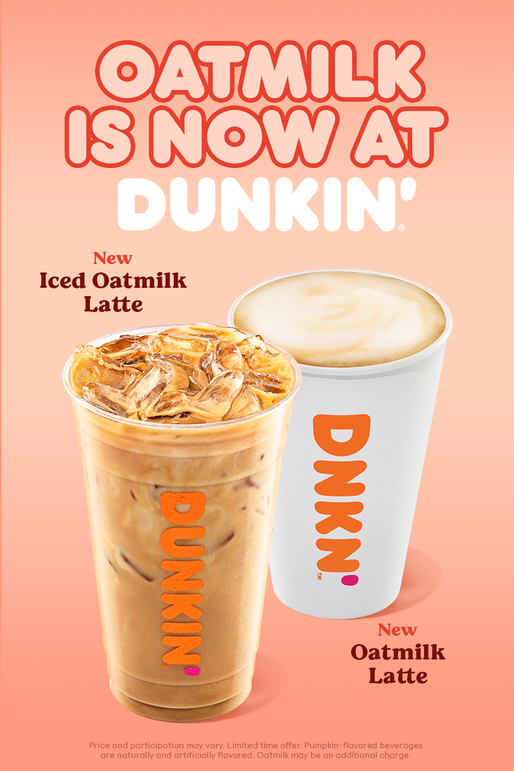 Oatmilk is now at Dunkin' in 2020 Dunkin, Real food