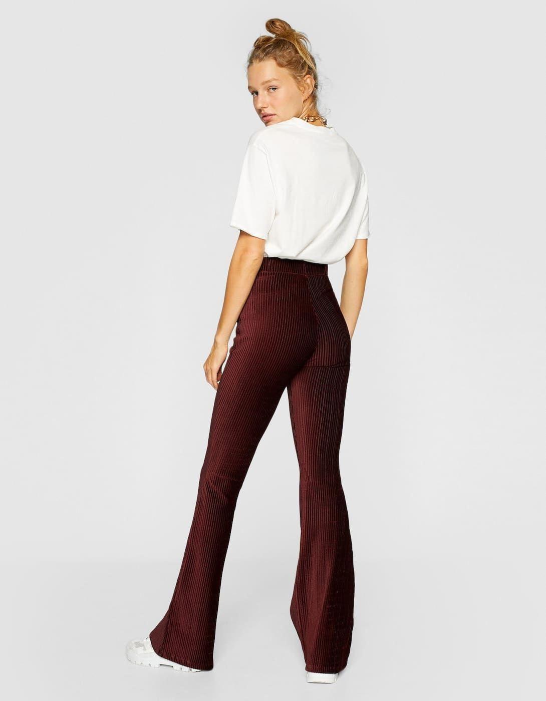 Pantalon Flare Velours Cotele Pantalons Stradivarius France Modefrancestyle Fashion Trendy Outfits Outfits