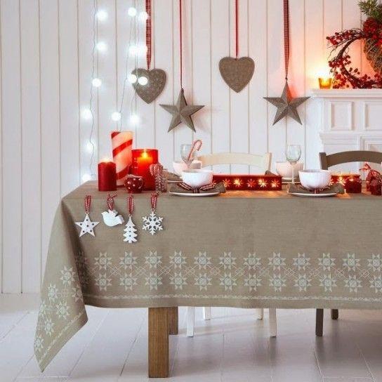 Natale Shabby Chic Rosso.Decorazioni Tavola Di Natale In Stile Shabby Chic Casa