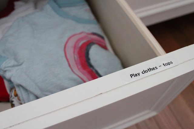 Use a label maker to help kids put their clothes away!
