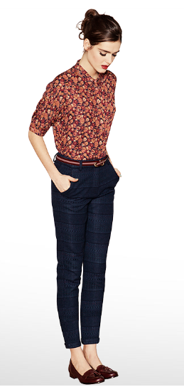 sessun.  Cute look except for the pockets on the pants.  Those slanted pockets make my hips look ginormous!