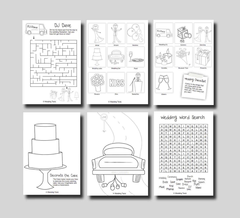 Download Printable Wedding Activity Book Google Search Wedding With Kids Kids Wedding Activities Wedding Activities