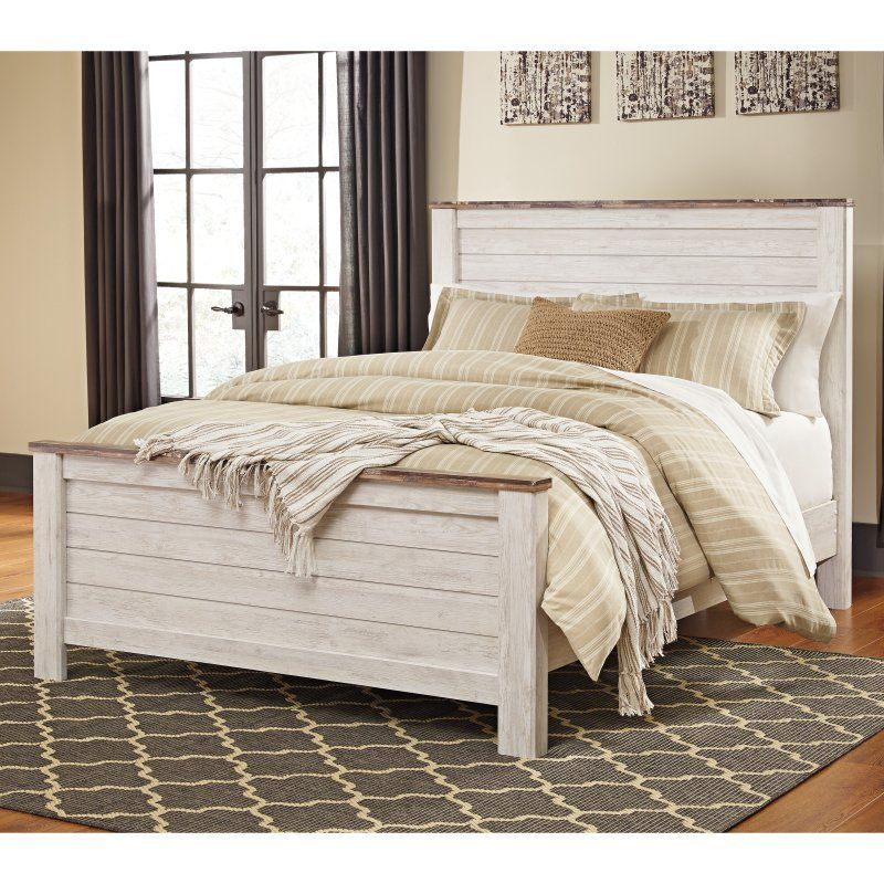 Signature Design By Ashley Willowton Panel Storage Bed Queen Panel Beds Queen Size Panel Bed Headboard Styles