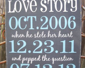 Our story important dates wood sign custom by thepeculiarpelican