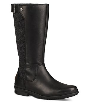 069dca5a273 UGG WOMEN'S JANINA WATERPROOF LEATHER PANELED TALL BOOTS. #ugg ...