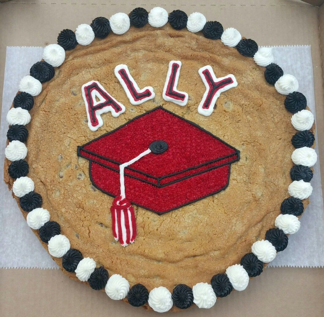 Graduation Cookie Cake Cookie Cake Giant Chocolate Chip Cookie