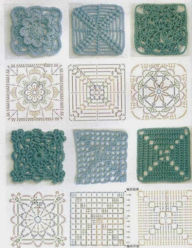 Häkeln - Granny´s Szydelkowe kwadraty | Häkeln / szydełko ...
