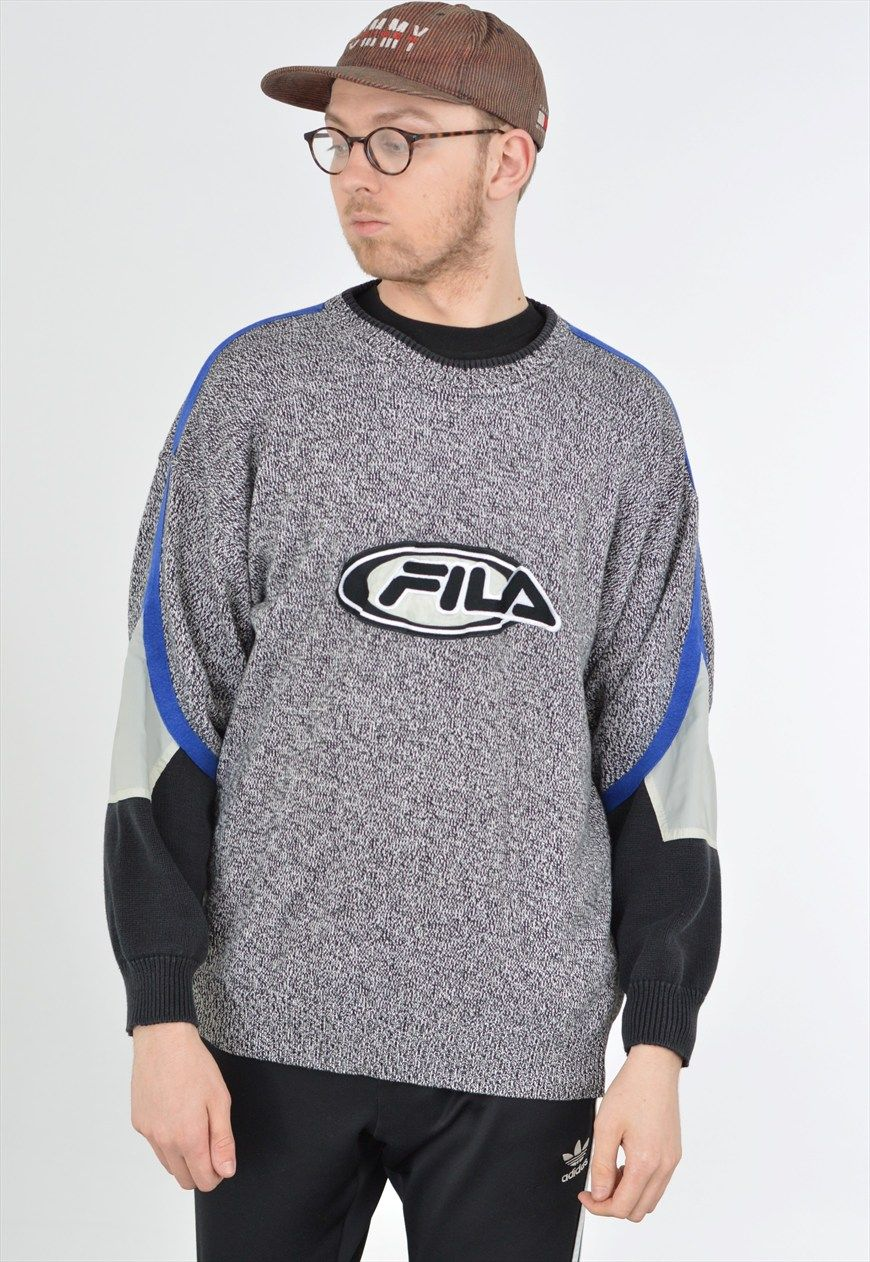 ea1221ee962f Grey Fila sweatshirt with an embroidered logo. FREE UK SHIPPING TODAY WITH  CODE 'FREEPOST