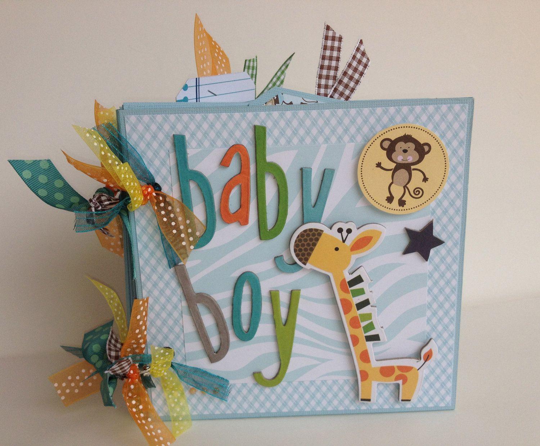 scrapbook mini album baby boy premade personalized scrapbook
