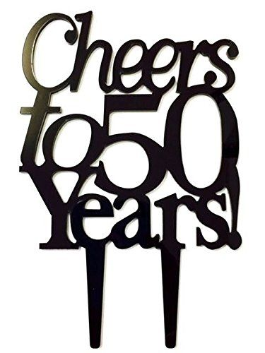 Cheers To 50 Years Birthday 50th Anniversary Cake Topper Party Decoration Sign Learn More By Visiting The Image Link It Is An Affiliate Amazon