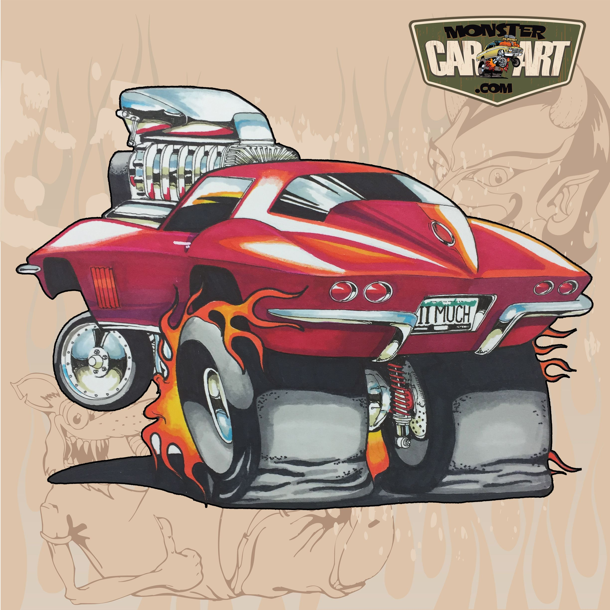 2018 Cartoon Hot Rod With Images Cool Car Drawings