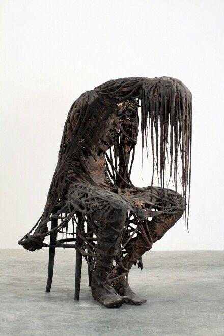 """अच्छा ख़ासा बैठे बैठे ग़ुम हो जाया करता हूँ, अब मैं अक्सर मैं नहीं रहता तुम हो जाया करता हूँ..                                     ........     अनवर शऊर   Translation : """"The Eternal Wait"""" Sculptures by Sasha Vinci, Italian"""