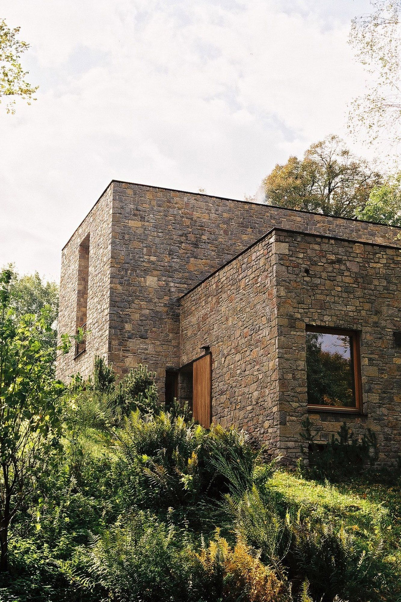 PLACES Wygnanowice House Over Crystal Clear Springs SpringCrystalsMinimal ArchitectureOrganic