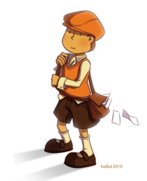 Professor Layton as an apprentice when he was little.