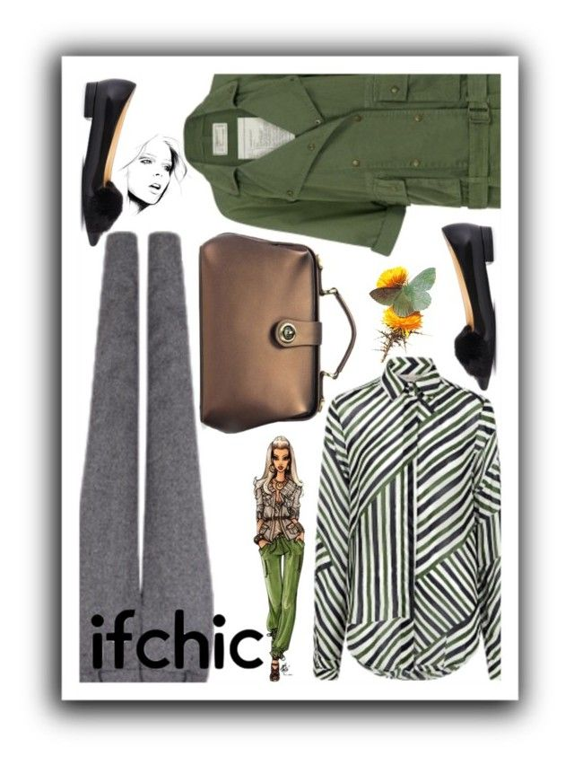 """""""ifchic contest entry 2"""" by bluecatreview13 ❤ liked on Polyvore featuring Preen, Pink Tartan, Current/Elliott, bluecatreview and ifchic"""