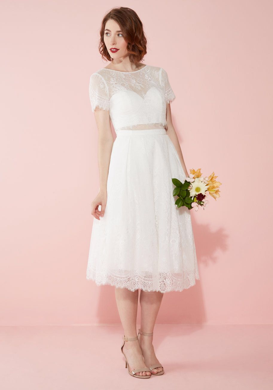 Bride and Joy Wedding Dress in White, #ModCloth | Wedding Fever ...