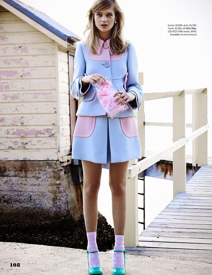 Freddo Fashion Chic Style: Editoriale: Boardwalk Empire: Rosie Tupper Con Zachary Handley Per Elle in Australia maggio 2014