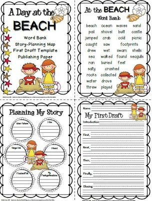 I Just Completed A Cute A Day At The Beach Writing Pack For One Of  I Just Completed A Cute A Day At The Beach Writing Pack For One Of My  Students Who Will Be Out For A Week On Independent Study Thesis Of A Compare And Contrast Essay also Essay For Health  Business Essay Example