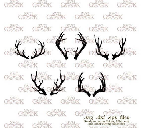 Antlers SVG cut files Deer Antler svg cut files for use by SVGgeek