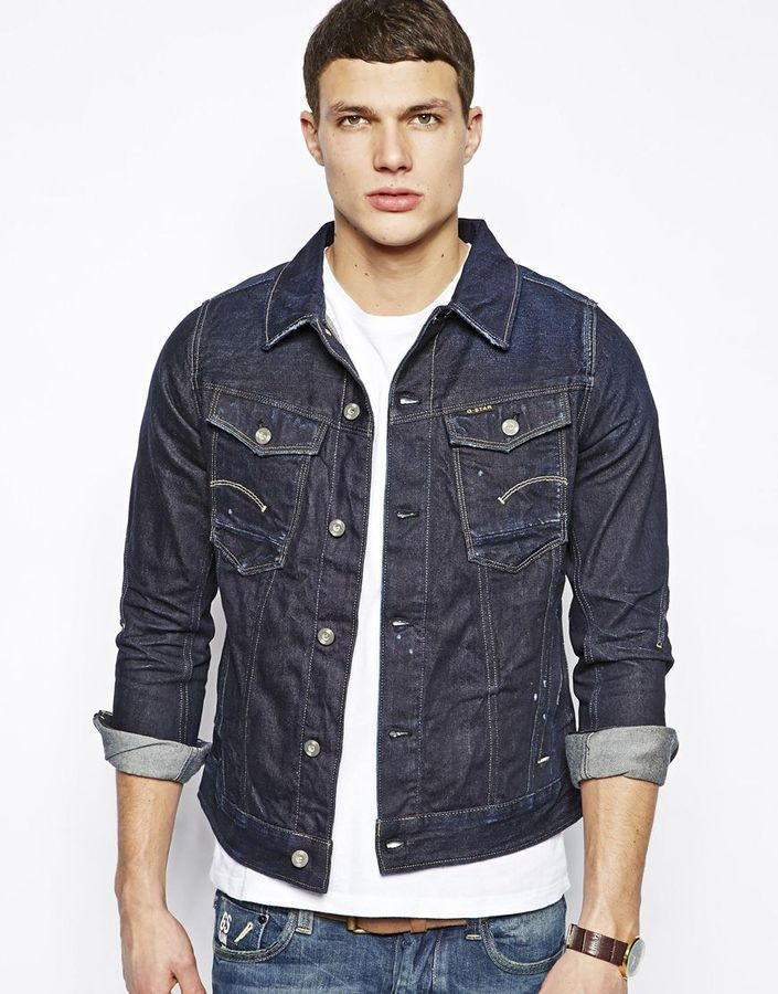 Denim Jacket Dark Aged Navy | Jackets, Denim jackets and Stars