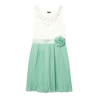 Star by Julien Macdonald Designer girl\'s light green pleated ...