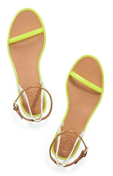 9718ec631 The Sandal  A neon flat to brighten up summer whites