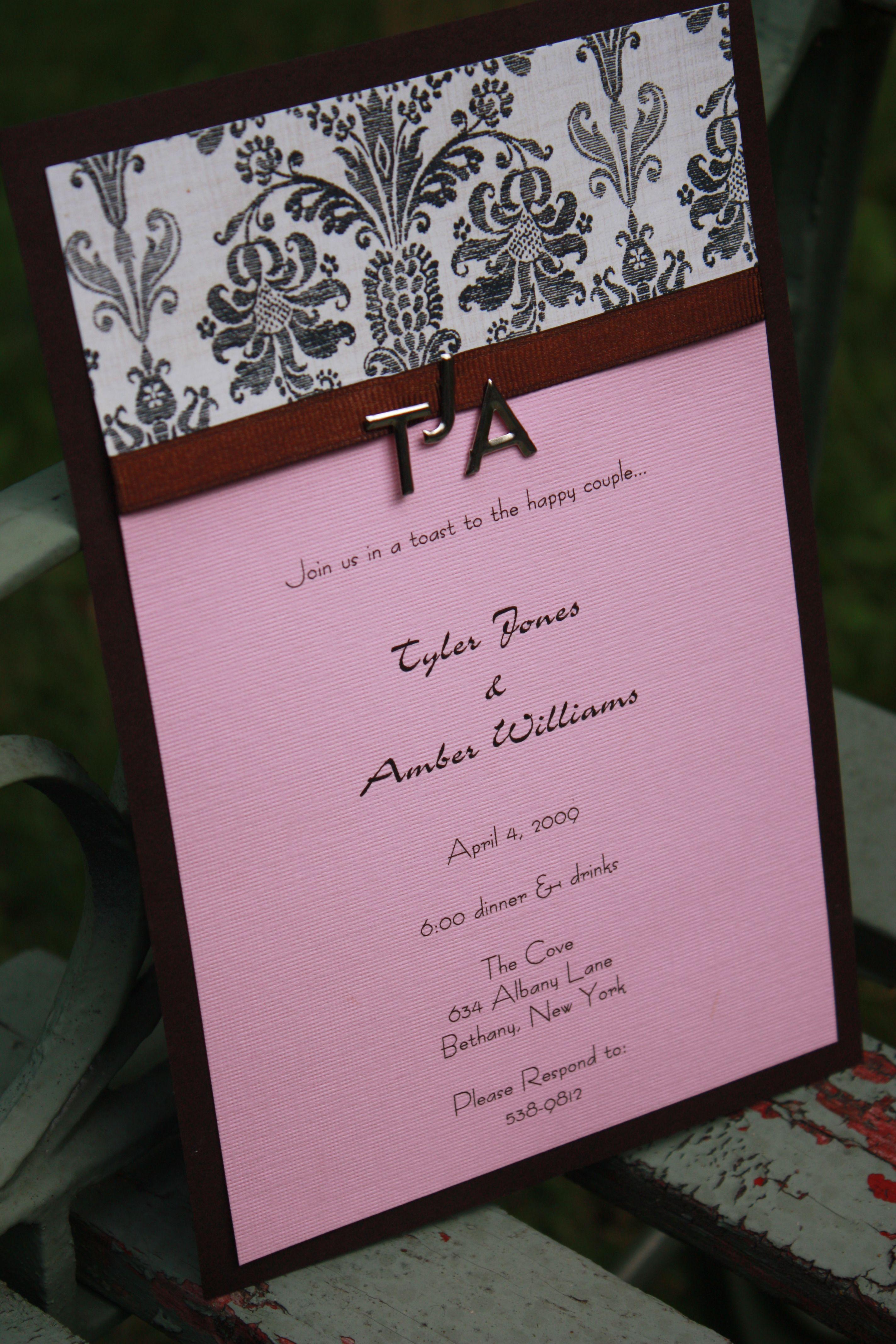 homemade invitations-engagement3 | Crafts - Invitation Ideas ...