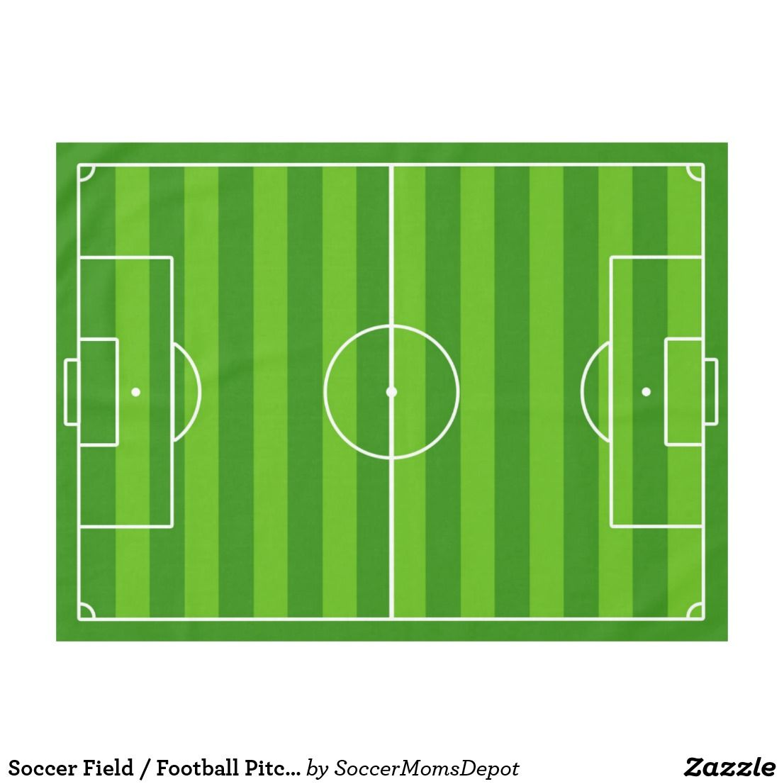 Soccer Field Football Pitch Table Cloth Zazzle Com Football Pitch Soccer Soccer Inspiration