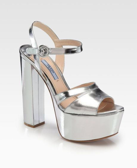 6e406f02ad9 Women s Metallic Leather Platform Sandals