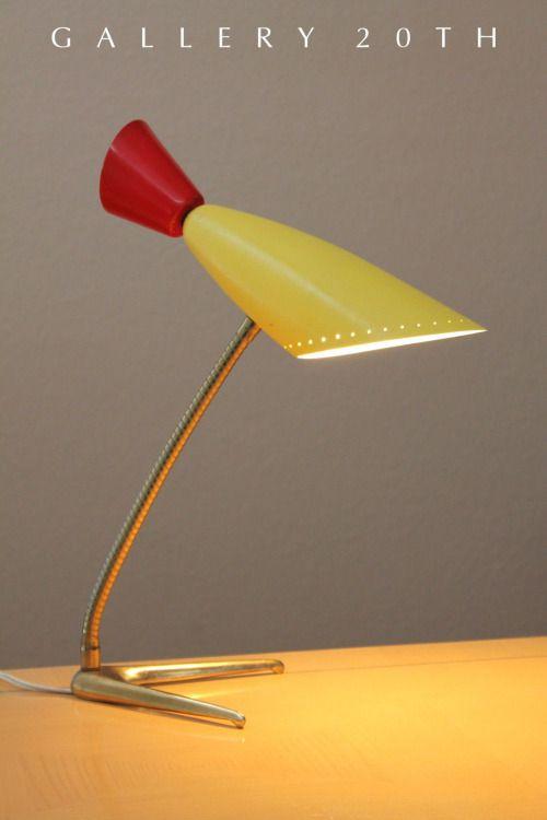 MID CENTURY MODERN DESK LAMP! Louis Kalff Arteluce Sarfatti