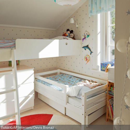 kleines kinderzimmer f r zwei kinderzimmer pinterest kleines kinderzimmer dachschr ge und. Black Bedroom Furniture Sets. Home Design Ideas
