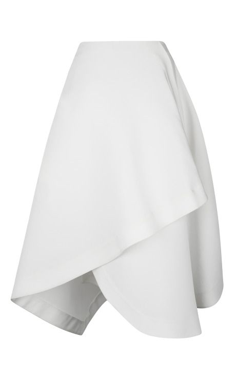 White Japanese Canvas Origami Skirt by J.W. Anderson for Preorder on Moda Operandi