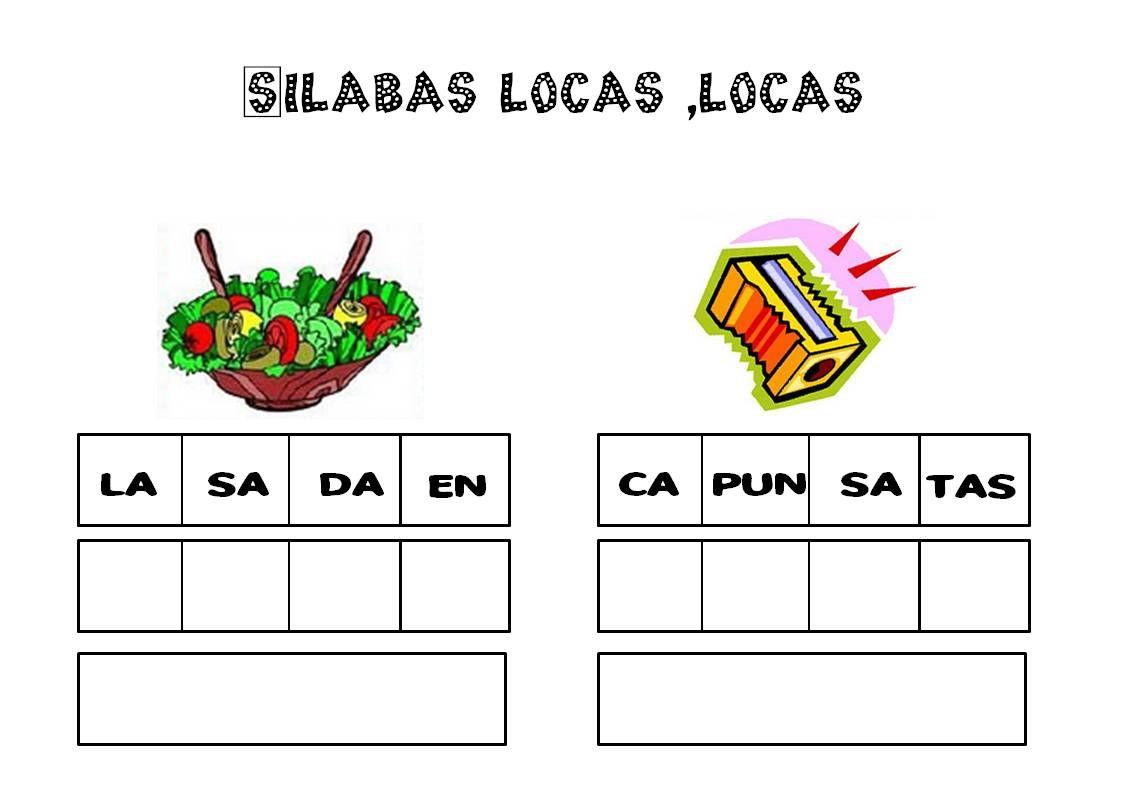 Silabas Vocabulario Palabras Ejercicios De Lengua
