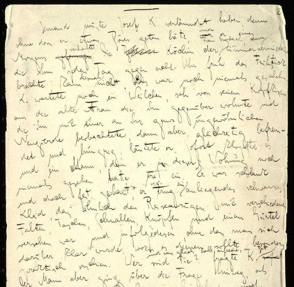 Kafkas Process Das Original Manuskript Im Gropius Bau