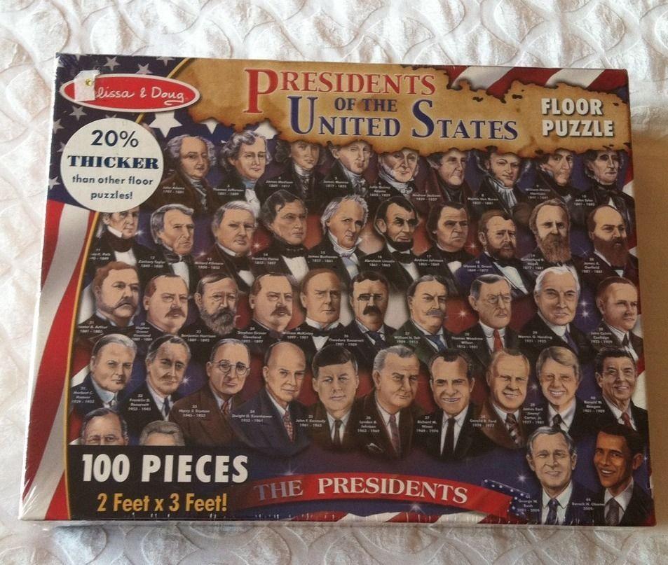 Enjoy Learning Us Map Puzzle%0A Melissa  u     Doug PRESIDENTS OF THE UNITED STATES Floor Puzzle     pieces   Obama  MelissaDoug