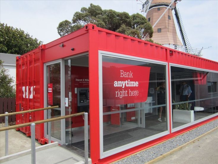 Nice Bank Office Made Of Shipping Container