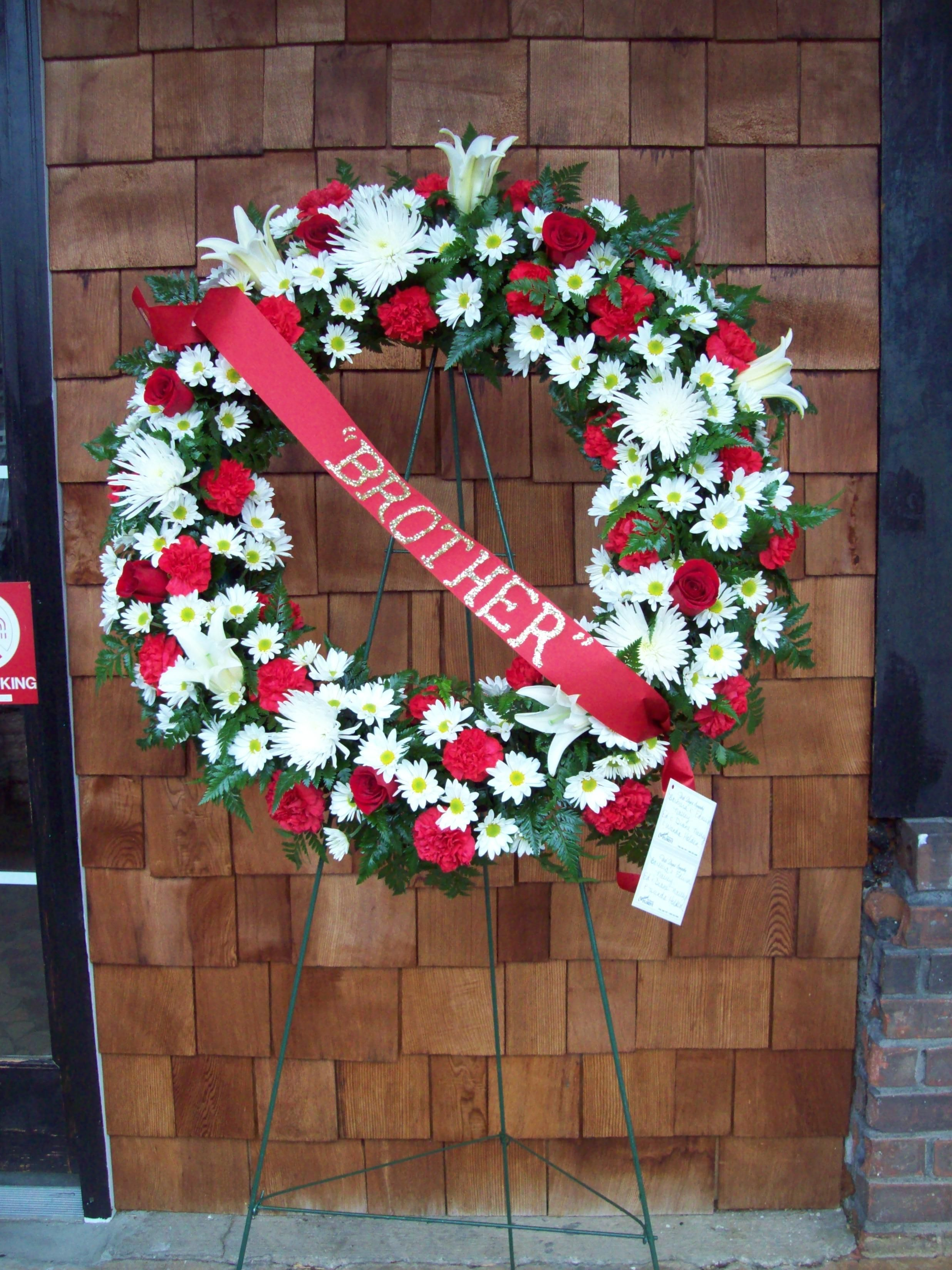 Tribute To Brother Wreath By Cleveland Florist Funeral Wreaths
