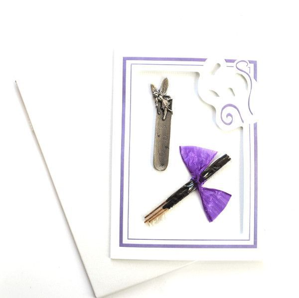 Pewter Fairy Mini Incense Holder Greeting Card