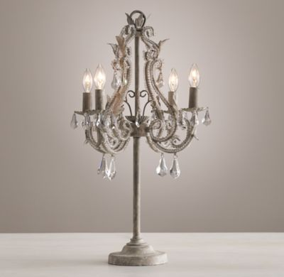 Palais table lamp aged metal aging metalnursery roomcrystal beadsfloor lamprh babyexhibittable lampsmaster bedroomschildren s