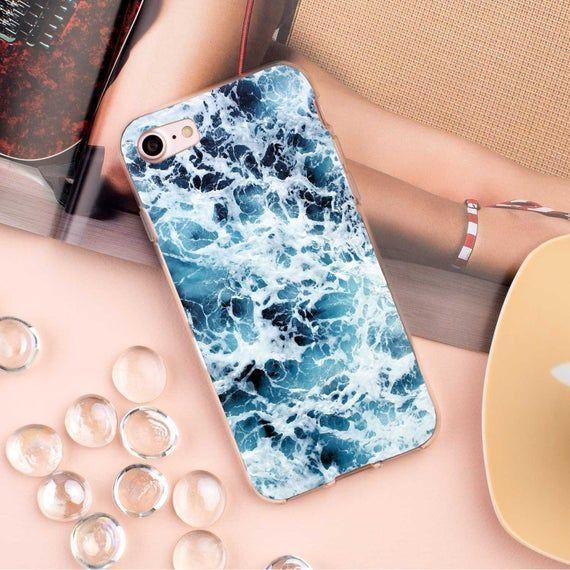 Wave Galaxy A80  Case Samsung Galaxy Note 10 Plus Case Blue | Etsy