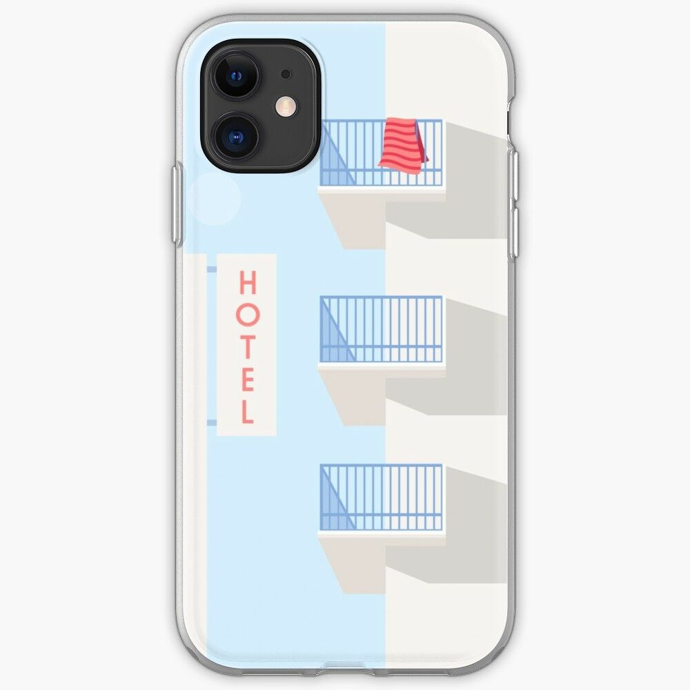 Vintage seaside hotel iphone 11 soft by adrianecalaway