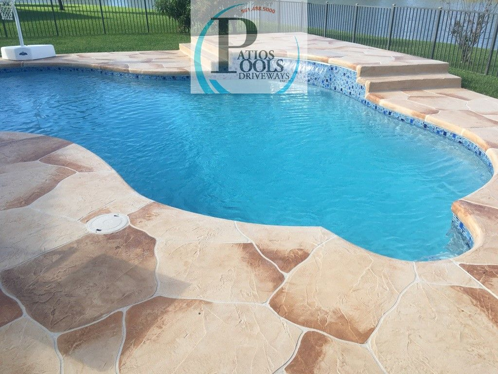 Concrete Overlay Pool Deck The Onetwo Combo Of Decorative Concrete Overlay For The Pool Deck