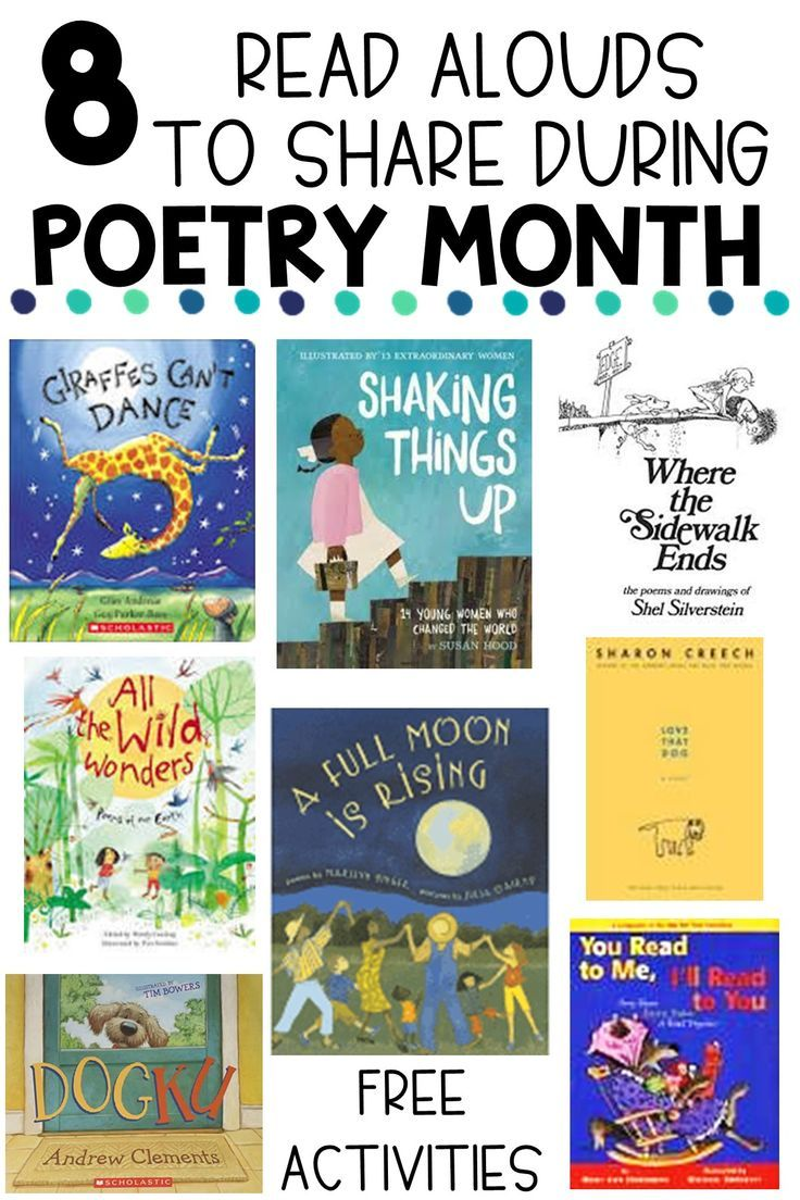 8 Poetry Read Aloud Books for the Upper Elementary Classroom