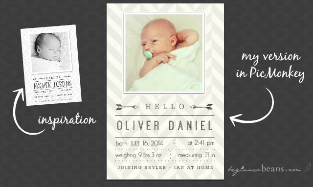 How To Design Your Own Birth Announcement Digital Scrapbooking
