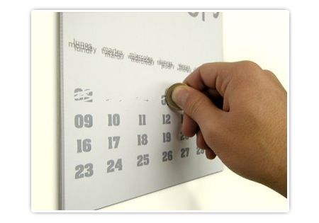 Kühlschrank Jahreskalender : Kalender design rubbeln kreative kalender designs kalenders