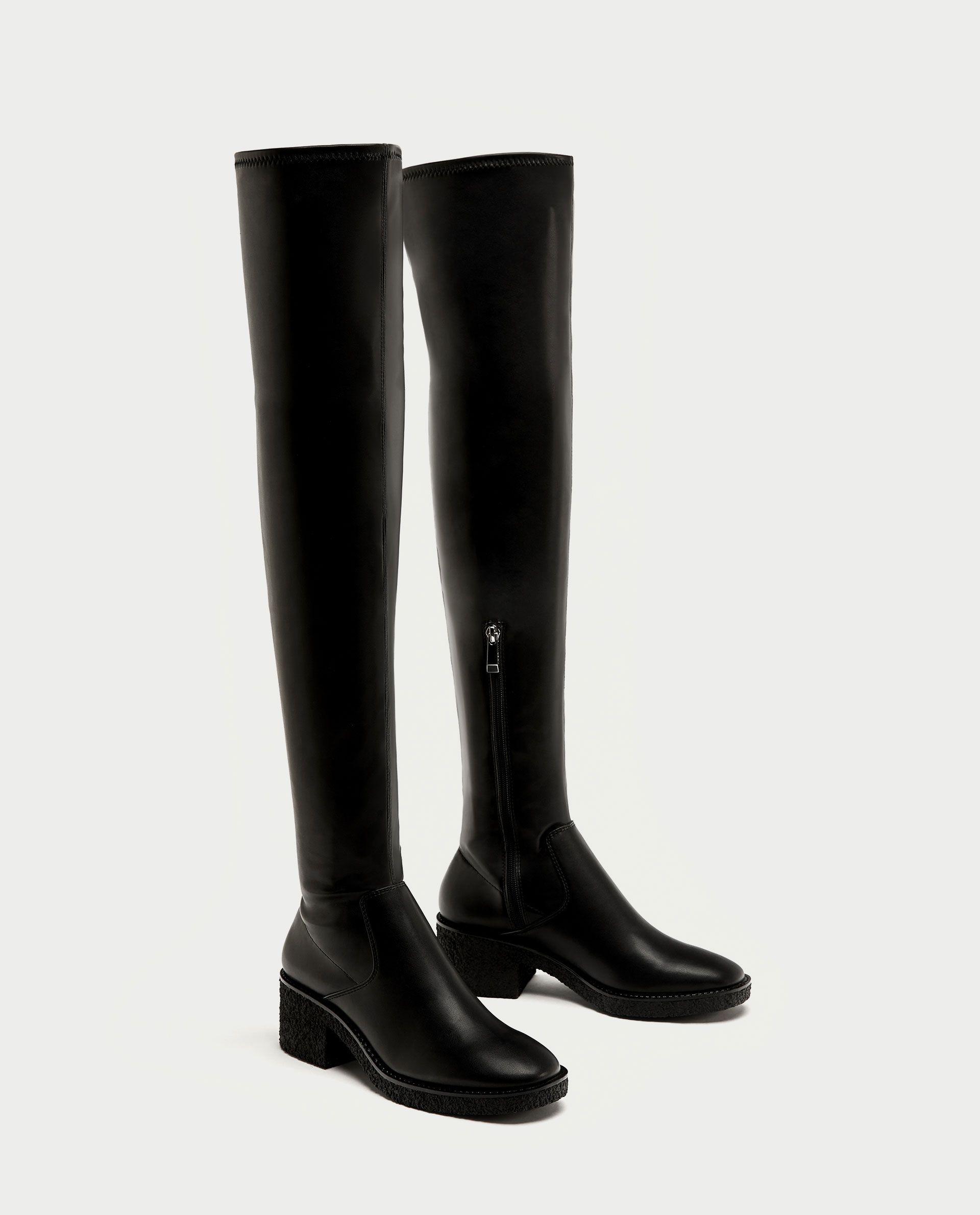 6fd82b5add59 BOTA PLANA CREPÉ   Осень17   Boots, Shoes и Zara
