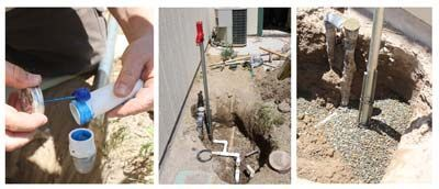 Beat The Freeze Installing A Yard Water Hydrant Hydrant Installation Diy Plumbing