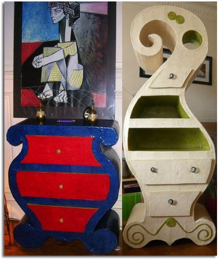 Muebles artesanales de cart n reciclado meubles en carton pinterest - Salon des travaux manuels ...