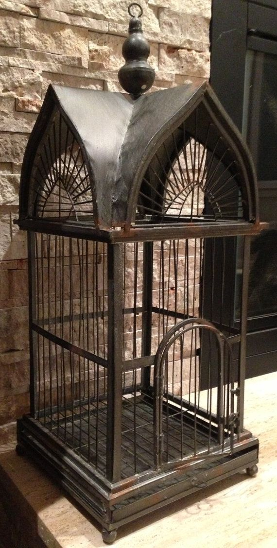Large Metal Victorian Style Bird Cage