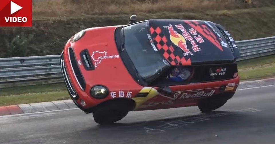This Mini Lapped The Nurburgring On Two Wheels #MINI #MINI_Videos
